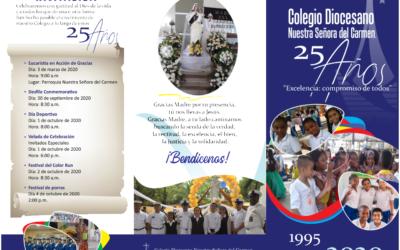 Invitación a la celebración de los 25 años del Colegio Diocesano Nuestra Señora del Carmen
