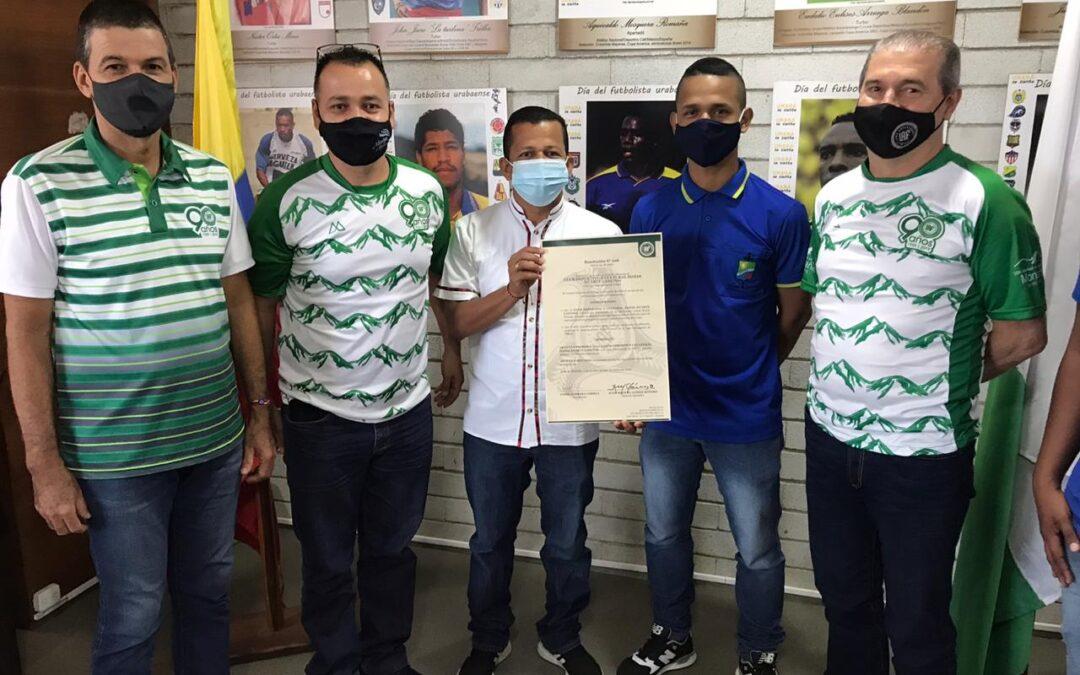 Entrega de resolución N° 026 del 24 de marzo de 2020, por la cual se concede la afiliación al Club Deportivo y Cultural Isaías Duarte Cancino de la Diócesis De Apartadó a la Liga Antioqueña de Fútbol (LAF).