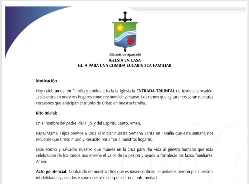 Guía para liturgia Domingo de Ramos
